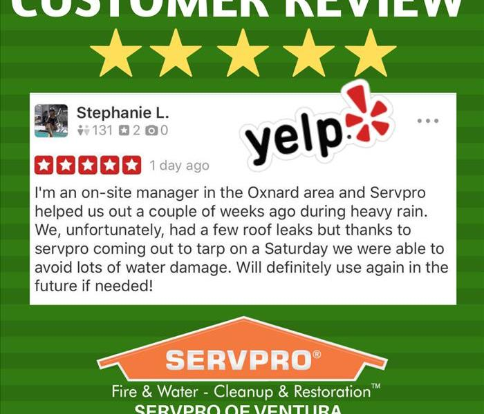SERVPRO of VENTURA Yelp Review