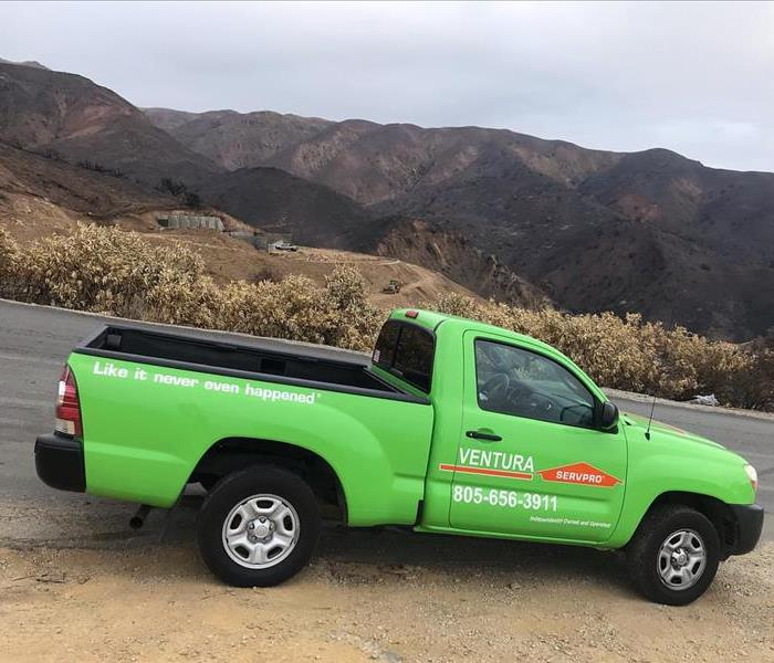 SERVPRO of Ventura Truck in Malibu during Woolsey Fire